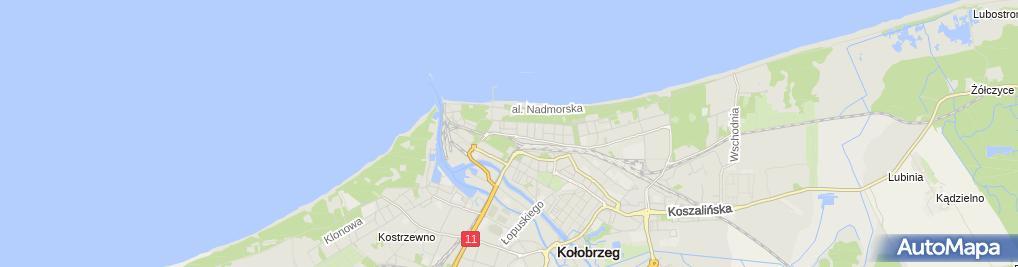 Zdjęcie satelitarne Interferie w Kołobrzegu **
