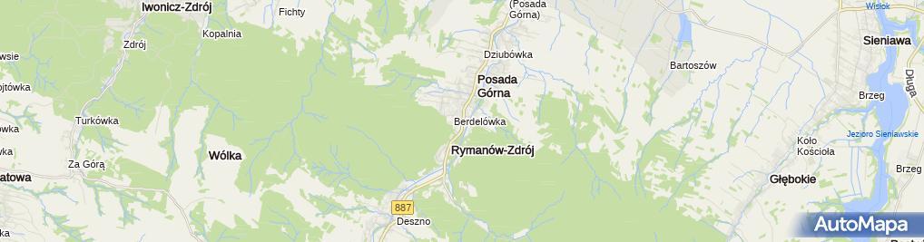 Zdjęcie satelitarne Kasztanowy Dwór