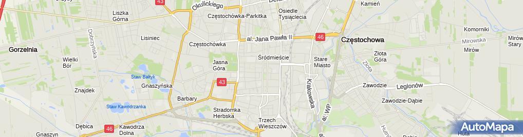 Zdjęcie satelitarne Pierożek