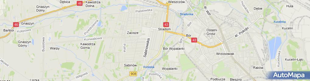 Zdjęcie satelitarne Mariusz Zawalski Usługi Hydrauliczne Zawalski