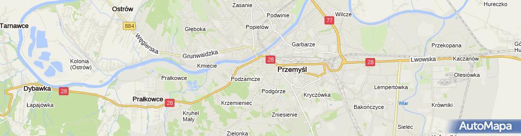 Zdjęcie satelitarne Centrum Informacji Turystycznej w Przemyślu