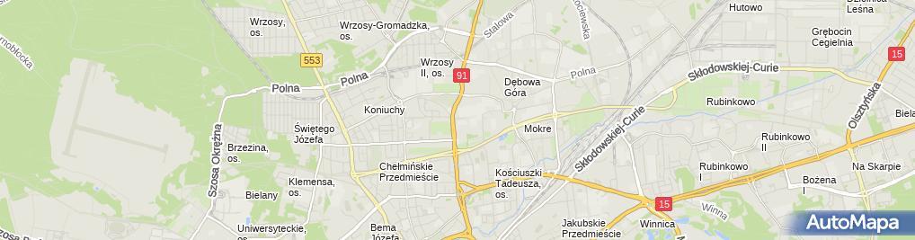 Zdjęcie satelitarne Informacja miejska