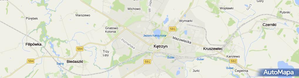 Zdjęcie satelitarne Informacja Turystyczna w Kętrzynie