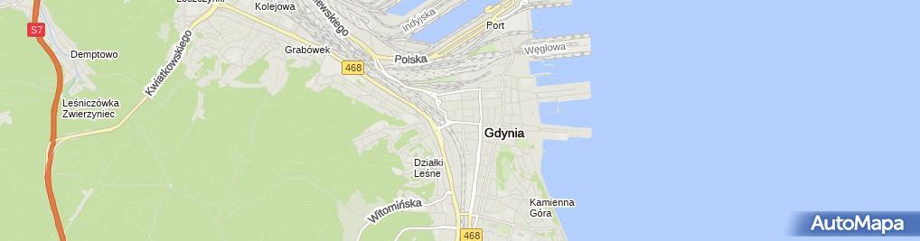 Zdjęcie satelitarne Miejska Informacja Turystyczna w Gdyni