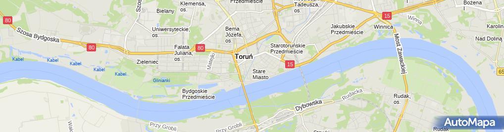 Zdjęcie satelitarne Ośrodek Informacji Turystycznej