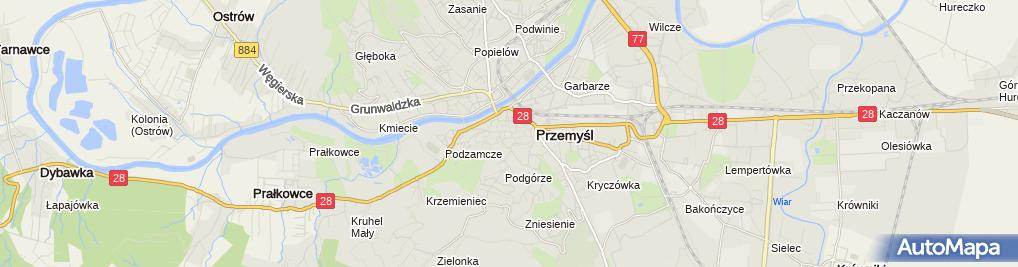 Zdjęcie satelitarne Punkt Obsługi Ruchu Turystycznego PORT Przemyśl
