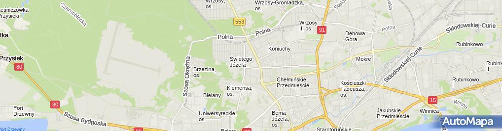 Zdjęcie satelitarne AHR Bartosz Jakubowski