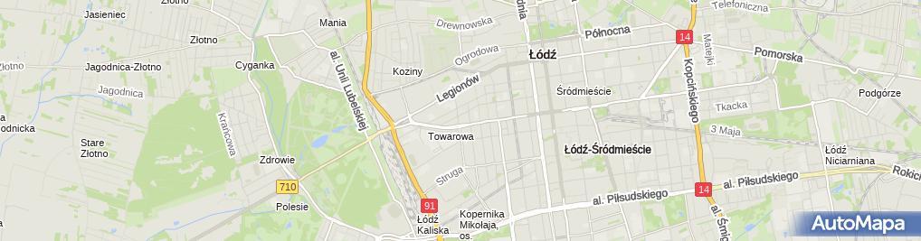 Zdjęcie satelitarne Biuro Usług Informatycznych