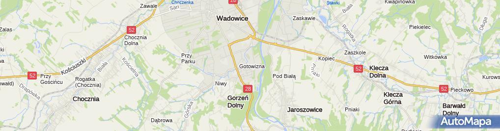Zdjęcie satelitarne Centrum Komputerowo-Medialne Studio Łukasz Hankus