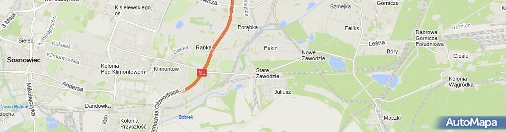 Zdjęcie satelitarne Dziuba Andrzej Andicomp Firma Handlowo-Usługowa