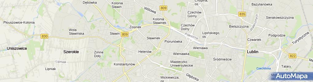 Zdjęcie satelitarne Rafał Skoczylas skoczek.net Usługi Informatyczne
