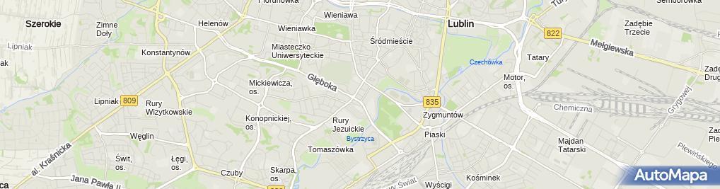 Zdjęcie satelitarne regis.tech Wojciech Sychut