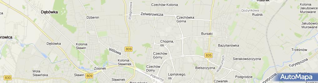 Zdjęcie satelitarne Shortcut - Usługi Informatyczne Piotr Smalira