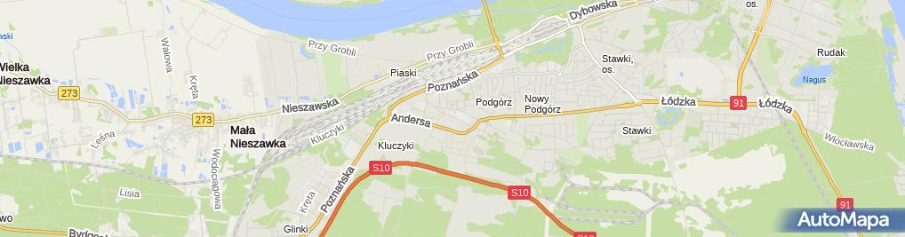 Zdjęcie satelitarne Usługi Informatyczne It-Spy Łukasz Piernik