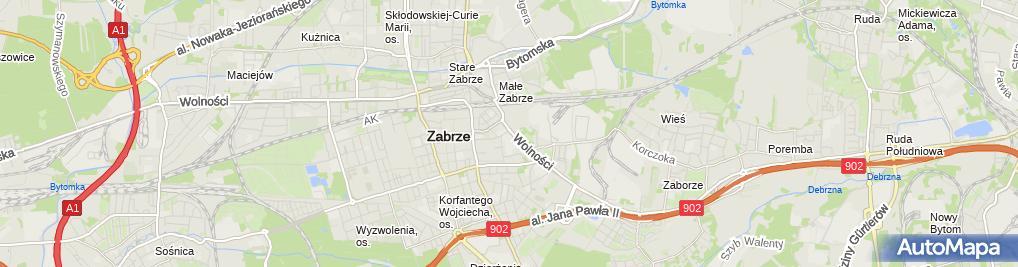 Zdjęcie satelitarne Filharmonia Zabrzańska