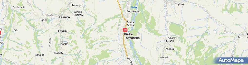 Zdjęcie satelitarne Instruktor Narciarski Kazimierz Burzykowski