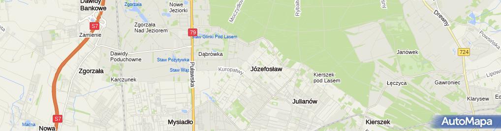 Zdjęcie satelitarne Józefosław