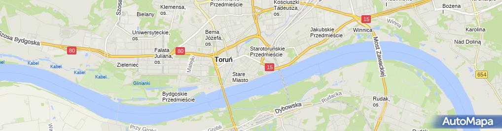 Zdjęcie satelitarne Kościół Trójcy Świętej w Toruniu