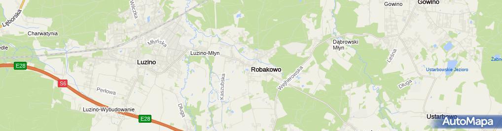 Zdjęcie satelitarne Robakowo (województwo pomorskie)