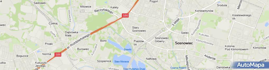 Zdjęcie satelitarne Stary Sosnowiec