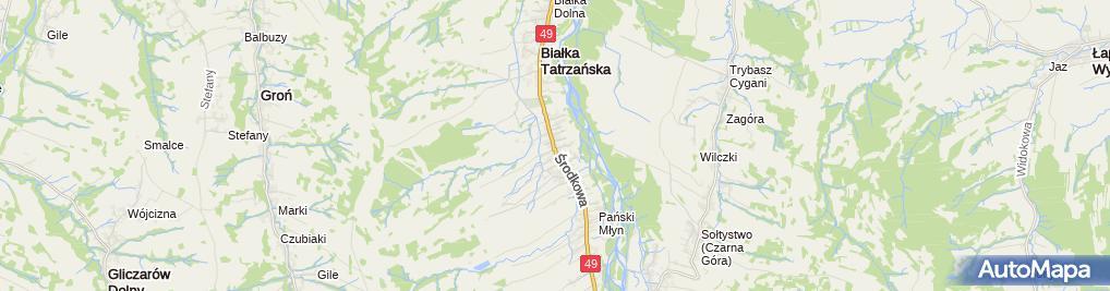 Zdjęcie satelitarne Wypożyczalnia sprzętu Kotelnica