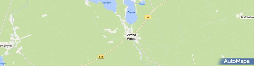 Zdjęcie satelitarne Zimna Woda (powiat nidzicki)