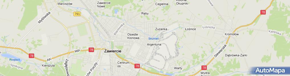 Zdjęcie satelitarne PaczkoPunkt InPost POP-ZAW10
