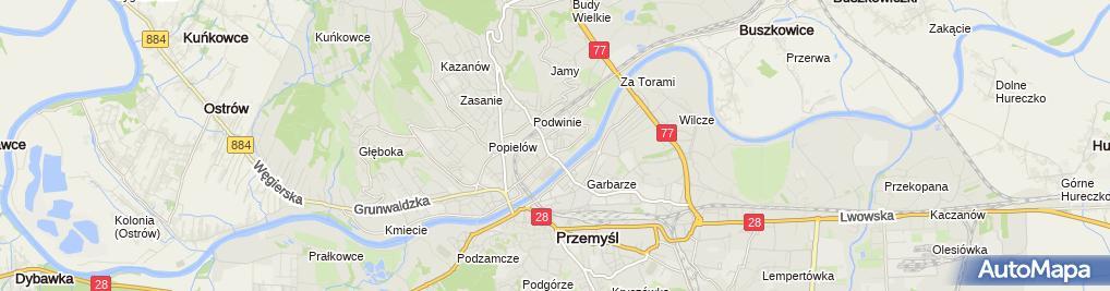 Zdjęcie satelitarne Auto-Gaz - Łaba Mariusz