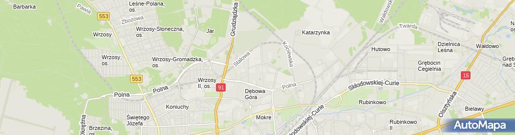 Zdjęcie satelitarne Klimazbyt o/Toruń