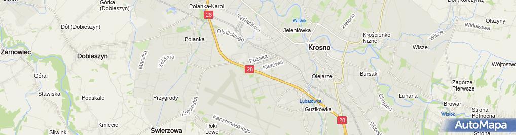 Zdjęcie satelitarne Inter Cars, Lokalizacja punktu Orientacyjna