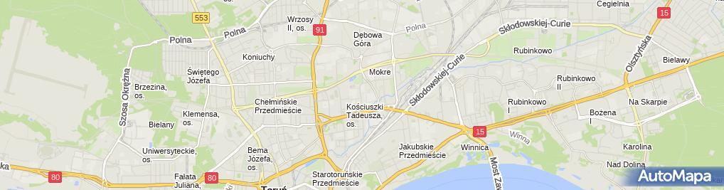 Zdjęcie satelitarne Urząd Miasta / Wydział Spraw Administracyjnych