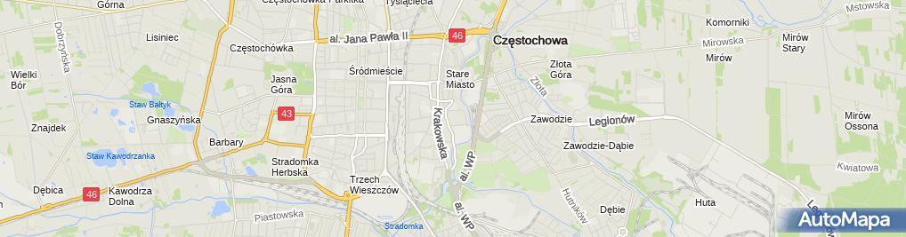 Zdjęcie satelitarne Jysk