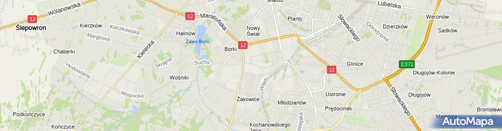 Zdjęcie satelitarne K-eX.Przesyłki Kurierskie
