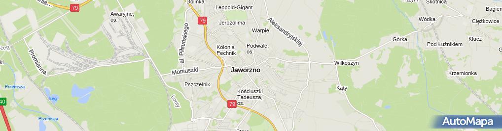 Zdjęcie satelitarne Adwokat Oskar Złotowski Kancelaria Adwokacka