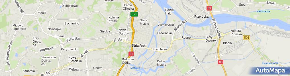 Zdjęcie satelitarne Adwokat Wojciech Włosiński
