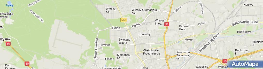 Zdjęcie satelitarne Dr Wiktor Cajsel - Kancelaria Radcy Prawnego