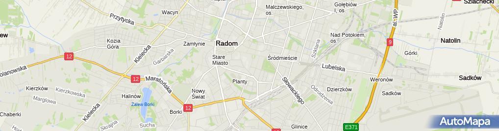 Zdjęcie satelitarne Dżbik Alina Kancelaria Adwokacka Adwokat Alina Dżbik