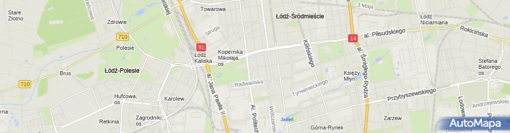 Zdjęcie satelitarne Kancelaria Adwokacka Adwokat Natalia Zawadzka