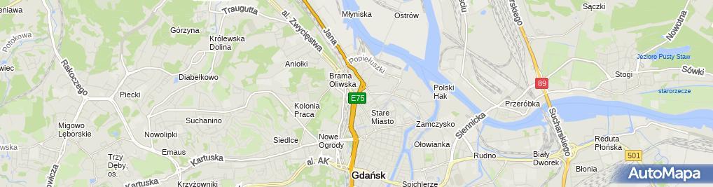 Zdjęcie satelitarne Kancelaria Adwokacka Adwokat Wojciech Pancerz
