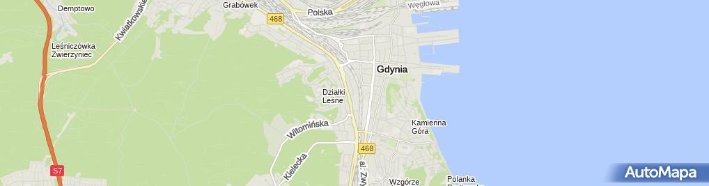 Zdjęcie satelitarne Kancelaria Adwokacka Gdynia - adwokat dr Małgorzata Dądalska