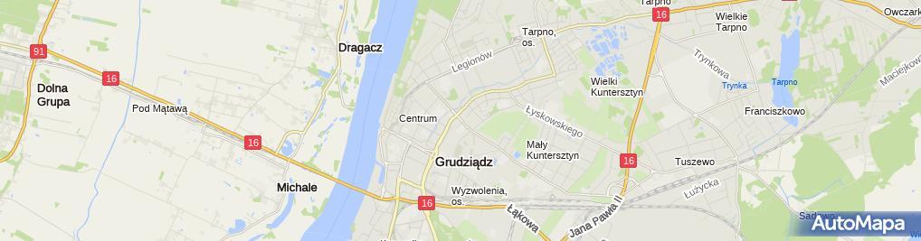 Zdjęcie satelitarne Kancelaria Adwokacka Loewenau Jarosław