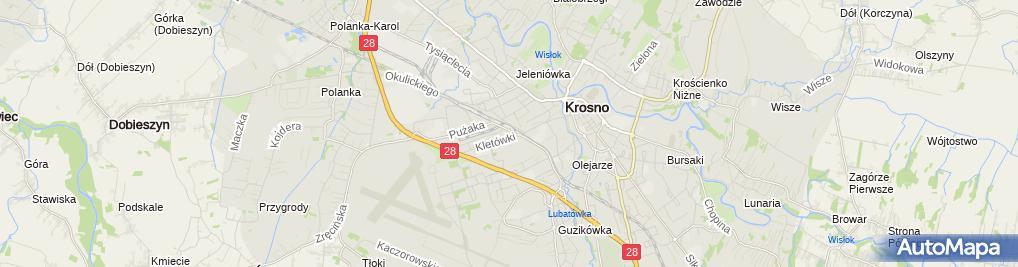 Zdjęcie satelitarne Kancelaria adwokacka w Krośnie