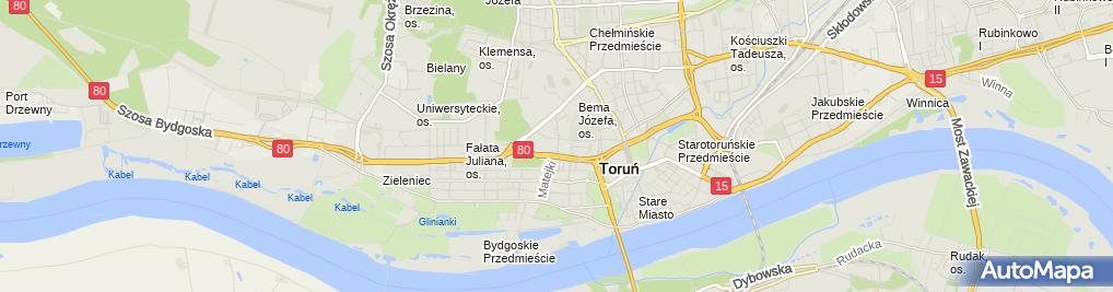 Zdjęcie satelitarne Kancelaria Radcy Prawnego AUCTOR JS Jacek Szok