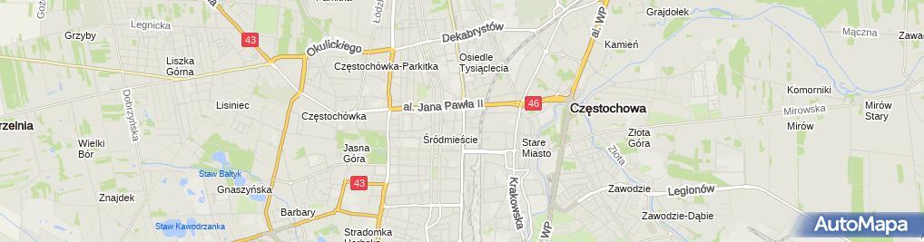 Zdjęcie satelitarne Kancelaria Radcy Prawnego Dominika Podsiedlik-Kowalska