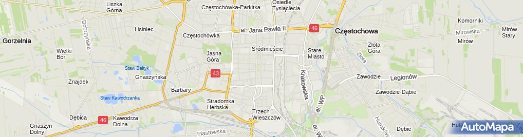 Zdjęcie satelitarne Sylwia Szajber-Turska Kancelaria Adwokacka Adwokat Sylwia Szajbe