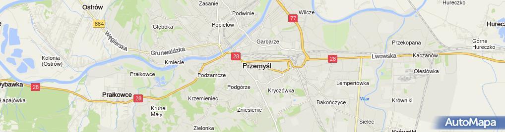 Zdjęcie satelitarne Kancelaria Notarialna w Przemyślu Notariusz P.Białachowski