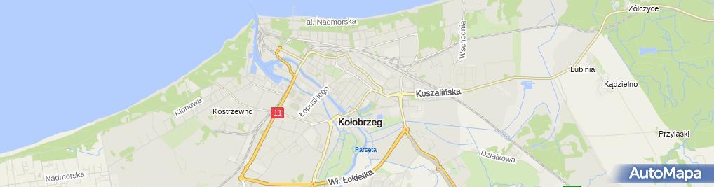 Zdjęcie satelitarne Mariola Szczęsna Notariusz w Kołobrzegu