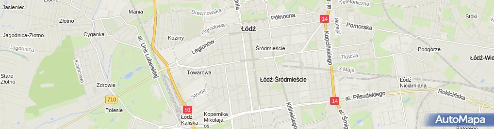 Zdjęcie satelitarne Notariusz Łódź Agata Uryszek Kancelaria Notarialna