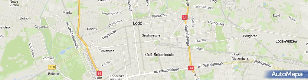 Zdjęcie satelitarne Notariusz Maciej Krakowiński