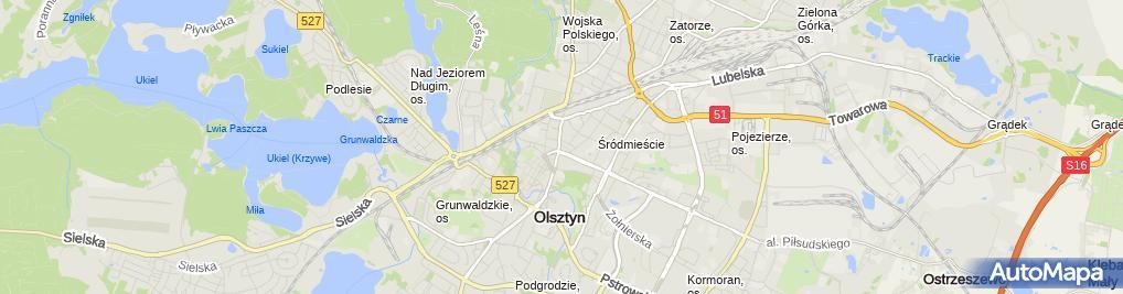 Zdjęcie satelitarne Kantor Wymiany Walut Bacławska Joanna Gabriela
